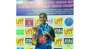 Pune cadet girl Prutha Vartikar won under 15 National Table Tennis championship