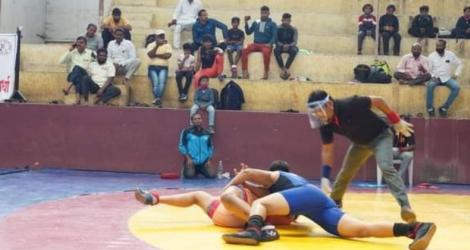 Swati Shinde, bhagyashree fand, womens national wrestling tournament