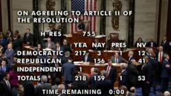 US House of Representatives votes on historic Trump impeachment