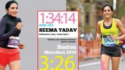 Faridabad-based marathoner Seema Yadav's climb to the top has been meteoric but she never allows her victories to get into her head