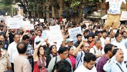Students stage protest in Mumbai