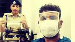 Railway Protection Force couple creates two-in-one mask and face shield