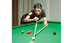 Siddharth Parekh in action on Wednesday.