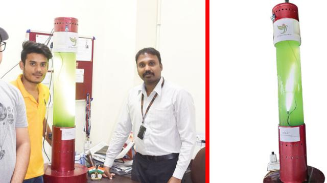 Student researchers from Lovely Professional University, Jalandhar, and IISER, Mohali, have jointly developed an algae-based room air purifier. The team shares more about their ingenious technology and how it is different from other air purifiers