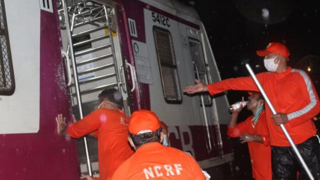 Mumbai rains: Watch how NDRF rescued 200 passengers stuck in stranded local trains