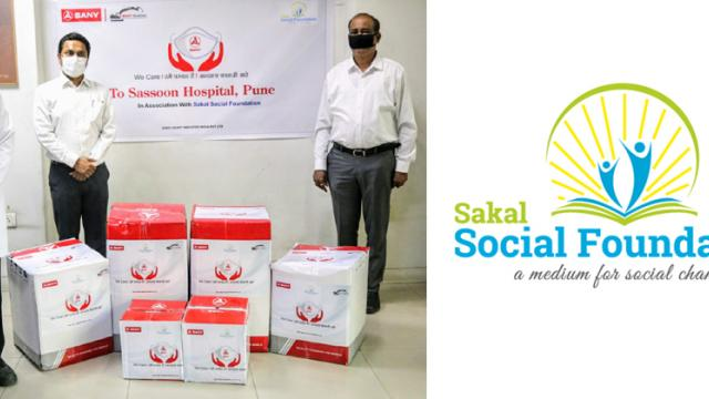 Sany joins hands with Sakal Social Foundation for providing PPE kits and masks to Sassoon Hospital
