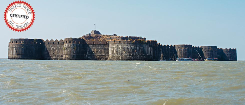 The famous Murud Janjira fort from Alibaug. There are two versions of the history of this place — one saying that it was built in the 16th century for fishermen to live peacefully away from pirates while another saying that the Abyssinian Siddis establish