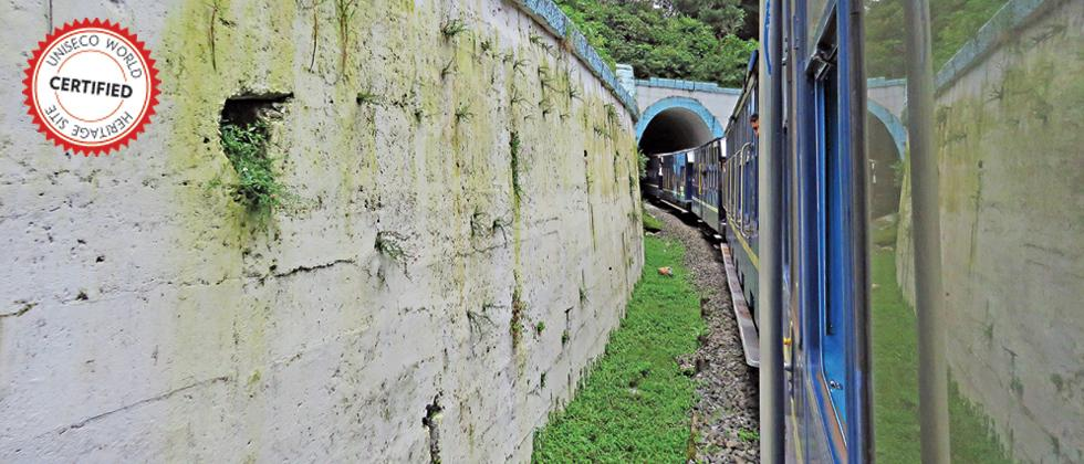 The Mountain Railways of India consist of the Darjeeling Himalayan Railway located in the foothills of the Himalayas in West Bengal having an area of 5.34 ha, the Nilgiri Mountain Railways located in the Nilgiri Hills of Tamil Nadu with an area of 4.59 ha