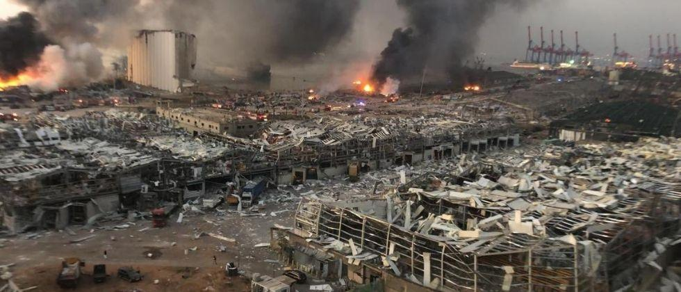 A major fire broke out at the Beirut port on Thursday