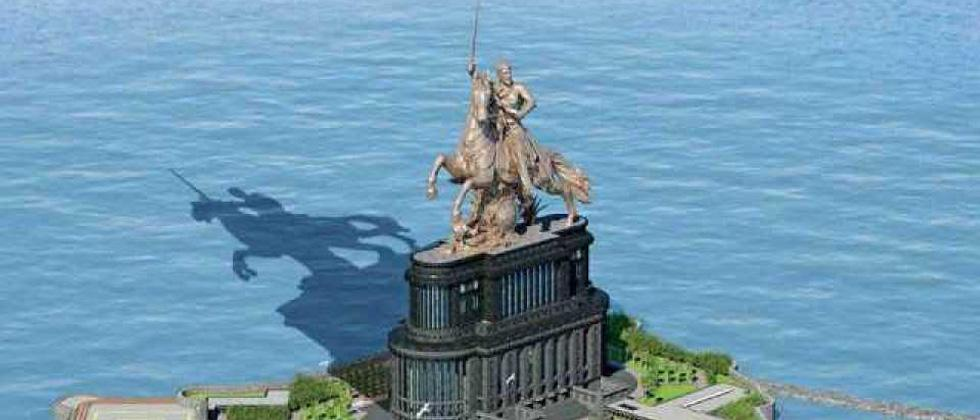 Height of Shivaji statue reduced, opposition alleges