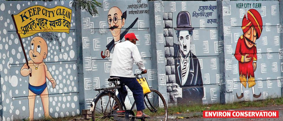 Unique style, messages take street wall art to new level