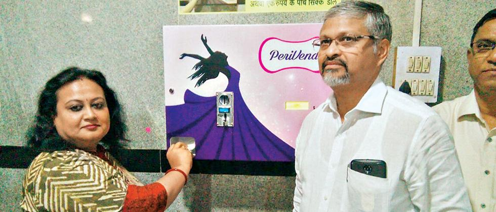 Automated sanitary napkin dispenser installed at railway station in Pune