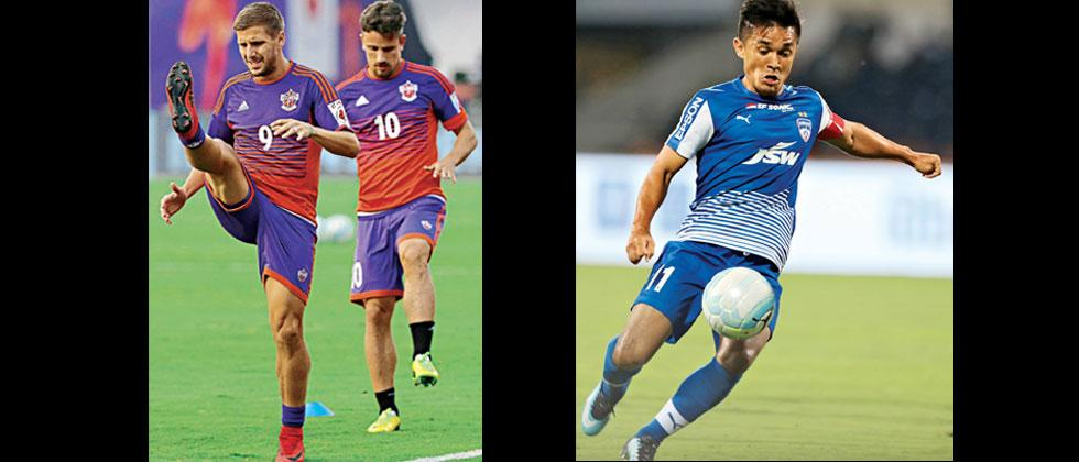 FC Pune City will bank on the experience of Emiliano Alfaro and Marcelo Pereira to come good against Bengaluru FC while Sunil Chhetri will look to lead visitors from the front in the first-leg of first ISL semi-fonal on Wednesday.