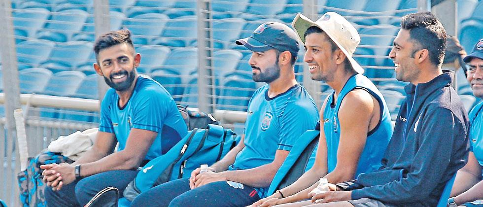 Maharashtra players during a practice session on the eve of their Ranji Trophy Group A match against Railways