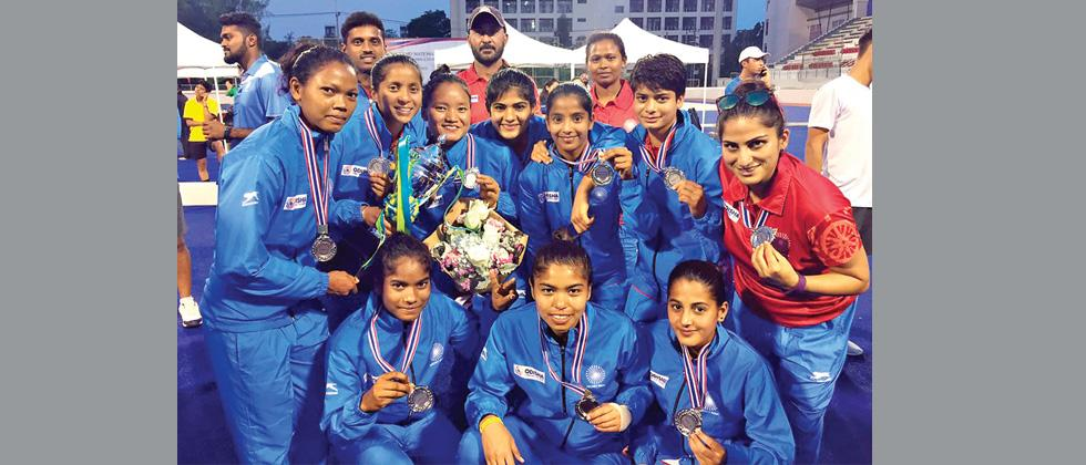 Indian Junior Women's Hockey team is all smiles after qualifying for Buenos Aires 2018 Youth Olympic Games, in Bangkok recently.