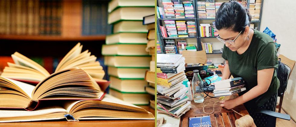 Overcoming difficulties, bookstores take books to customers' doorsteps