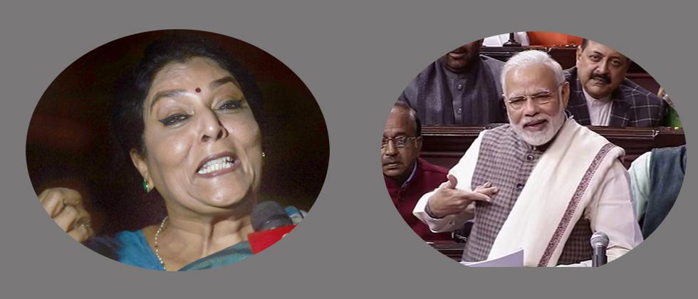Cong protests in RS against PMs remark on Renuka Chowdhury