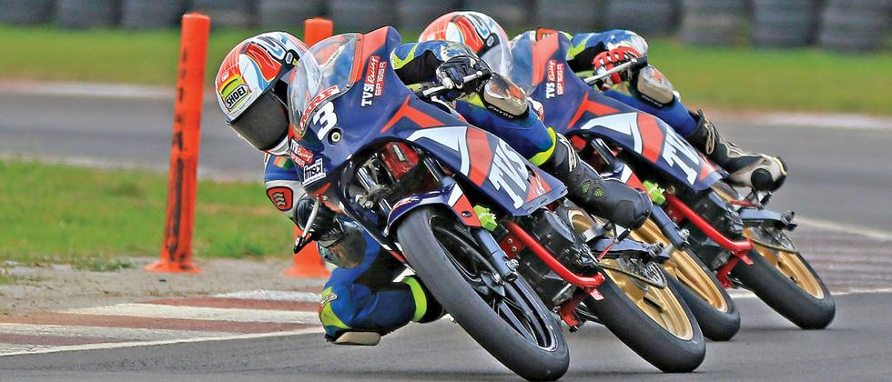 Jagan leads 1-2 finish for TVS Racing Rd 3 in National Motorcycle c'ship