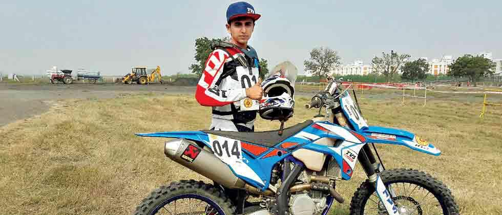 Rugved sole Indian at Sri Lankan Supercross