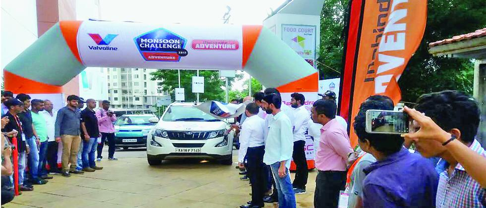 Sanjay Takale's car during the flag-off ceremony in Mangalore on Friday.