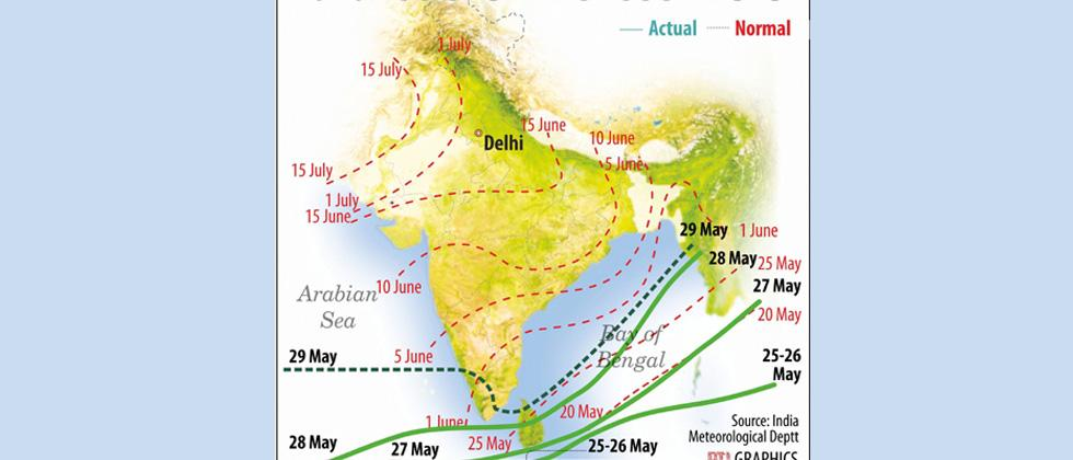 Country as a whole likely to receive normal monsoon, barring east and north-east: IMD