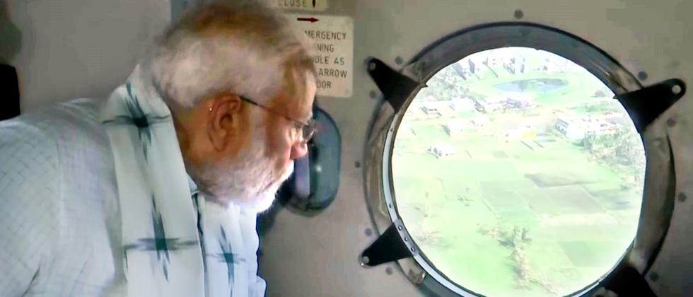PM conducts aerial survey of Odisha's cyclone-hit areas, announces assistance