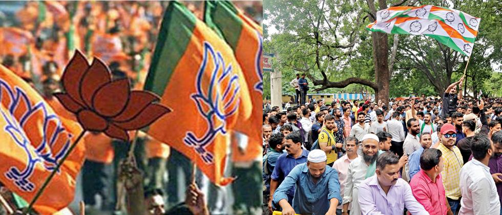 BJP, NCP supporters celebrate at centres
