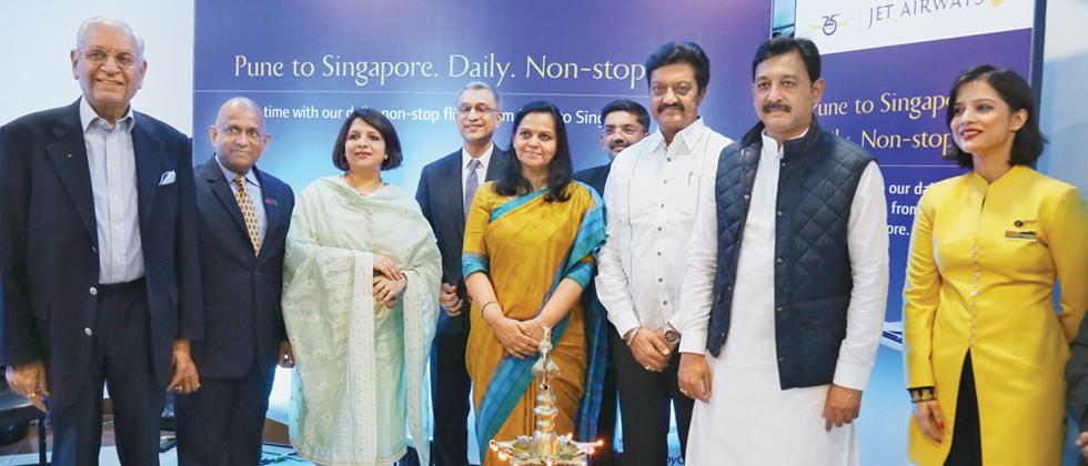 Direct flight from Pune to Singapore from today