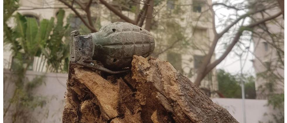 Hand grenade found near NIBM road