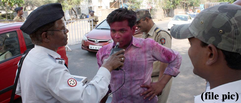248 booked for drunken driving in city on Holi