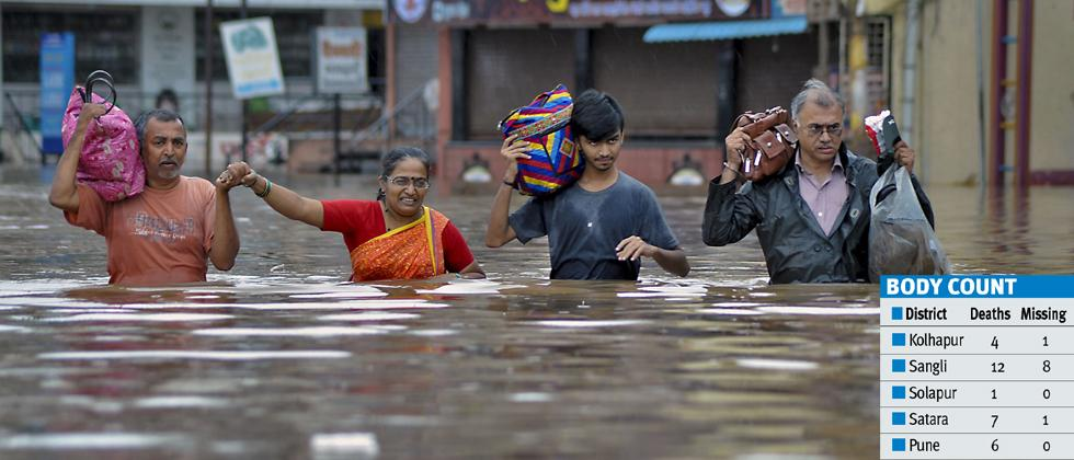 4.13 lakh flood-hit people evacuated in Pune division