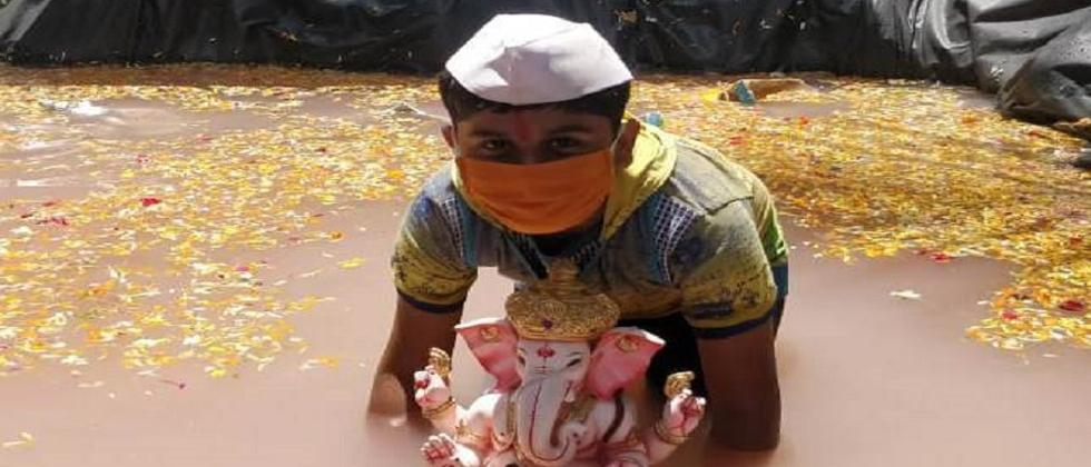 Pune: Wadgaon, Dhayari, Narhe citizens prefer canal over mobile immersion tanks to immerse Ganesh idols