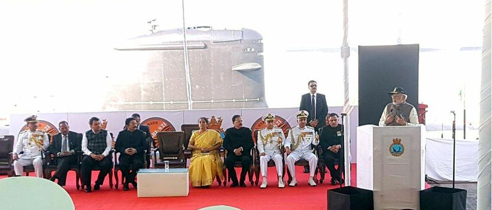 PM Modi commissions INS Kalvari to boost India's defence, security