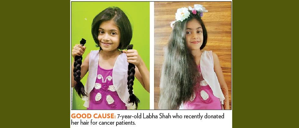 7-year-old girl donates her hair to cancer survivors