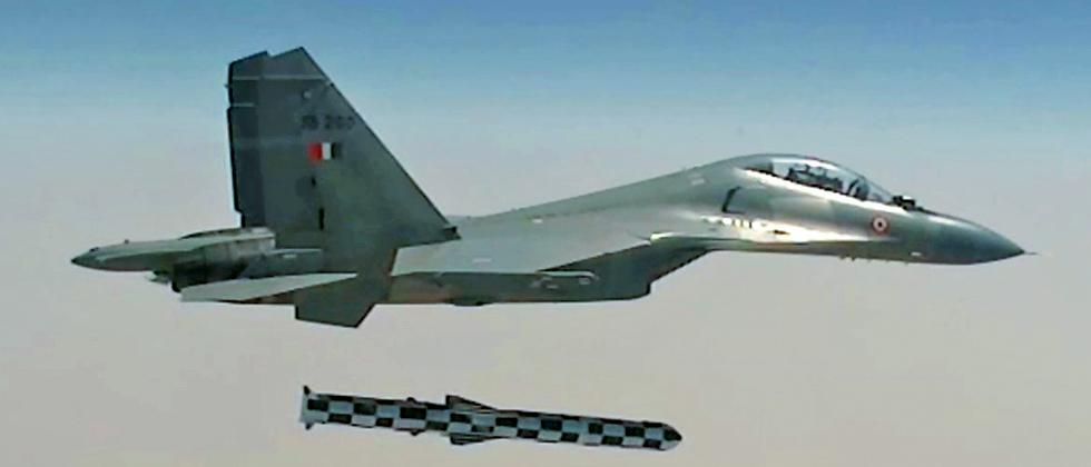 A file photo of Sukhoi-30 MKI firing a Brahmos supersonic cruise missile.