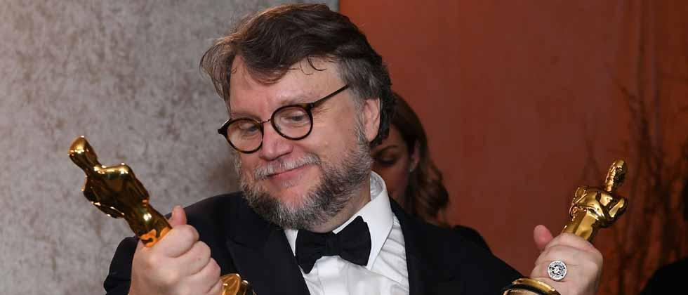 - Best Director and Best Film laureate Mexican director Guillermo del Toro stands at the engraving station as he attends the 90th Annual Academy Awards Governors Ball at the Hollywood & Highland Center on March 4, 2018, in Hollywood, California. / AFP PHO