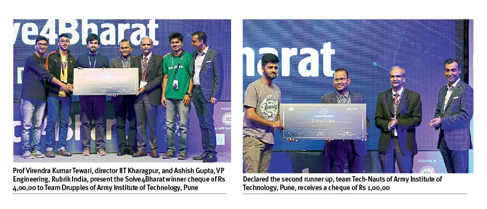 Two teams from Army Institute of Technology (AIT), Pune, won the 1st and 3rd prize at PanIIT's Solve4Bharat.