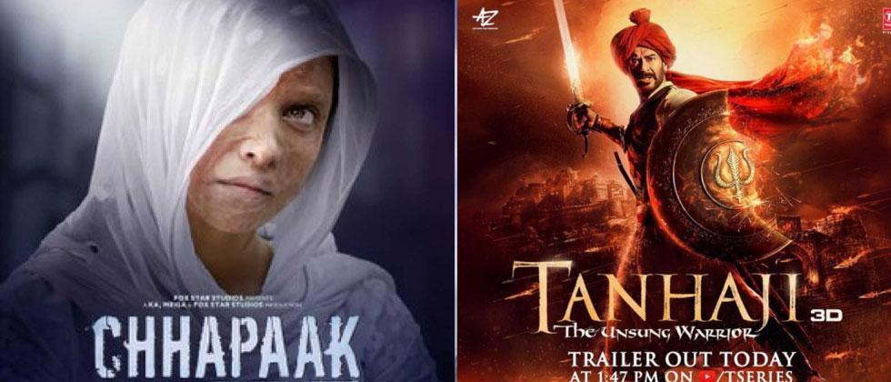 'Tanhaji' vs 'Chhapaak': a Cong vs BJP 'tax free' game