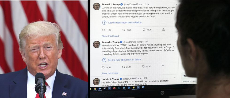 Twitter flags Donald Trump, Twitter flags, Social media