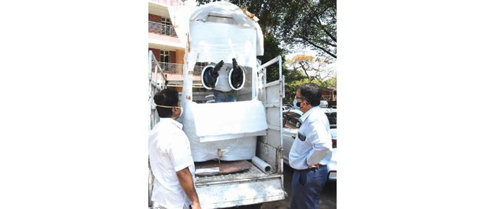 Pune: Mobile swab collection centre inaugurated at Bibwewadi
