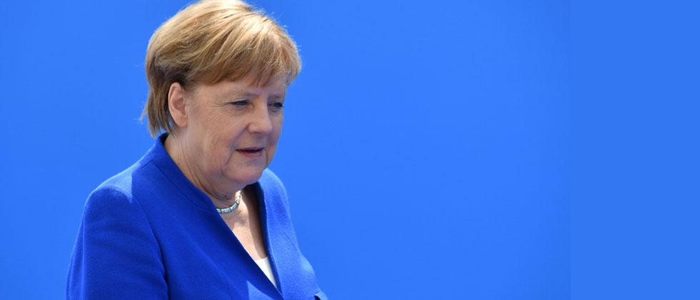 German Chancellor Angela Merkel arrives to attend the NATO (North Atlantic Treaty Organization) summit, in Brussels, on July 11, 2018. Denis Charlet/AFP