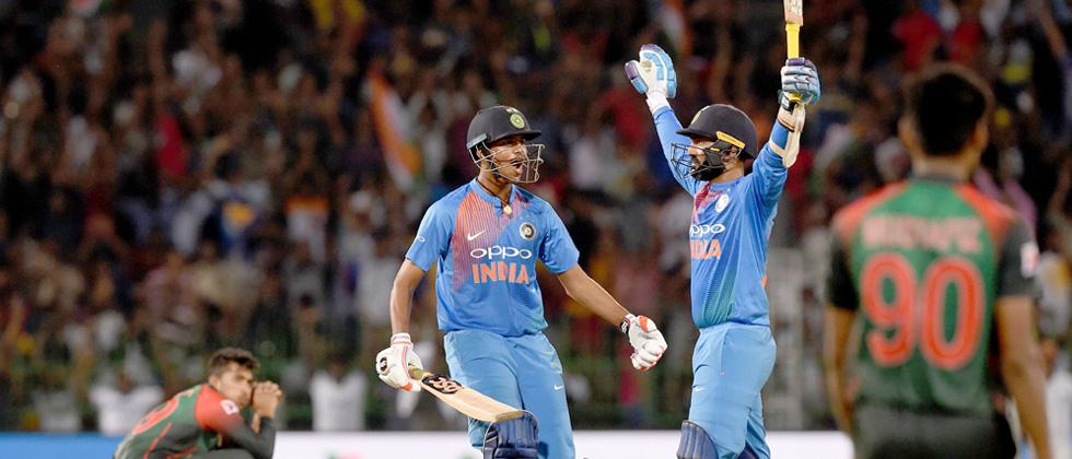 DK does it in style, India win Nidahas T20