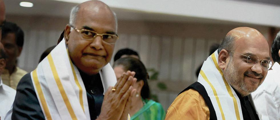 NDA's nominee for presidential election 2017 Ram Nath Kovind arrivesto file nomination papers on Friday.
