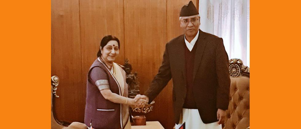 Swaraj,Nepalese leaders discuss ways to enhance bilateral ties