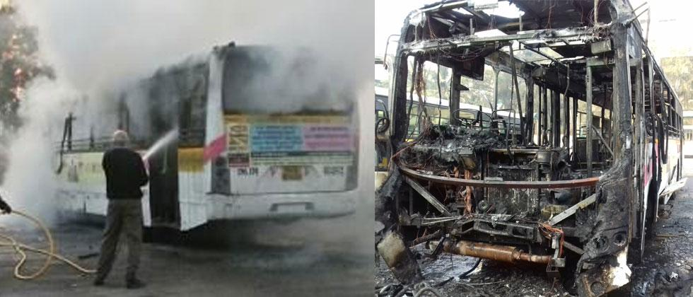 Another PMPML bus gutted at Kothrud Depot
