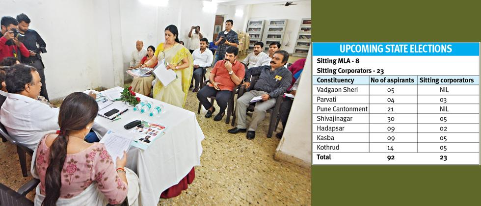 City BJP interviews 92 aspirants for State elections