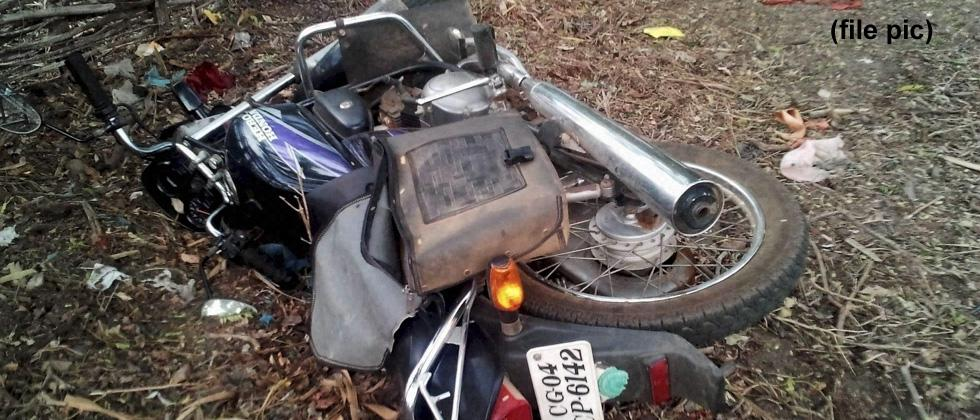 Motorcycle damaged as man refuses to pay donation