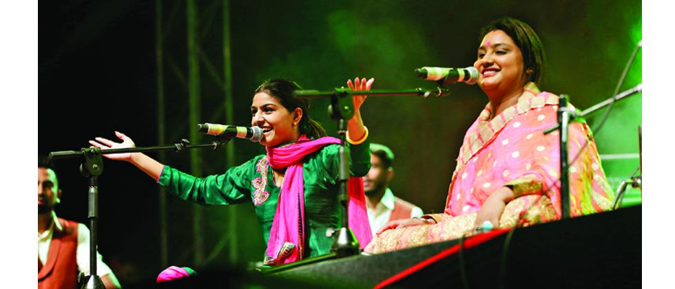 The Noor Sisters performing at the NH7 musical festival on Sunday.