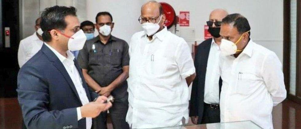 Nationalist Congress Party (NCP) Chief and senior politician Sharad Pawar visited the Serum Institute of India (SII) - the manufacturer of immunobiological drugs and vaccines in India - on Saturday (August 1) afternoon.
