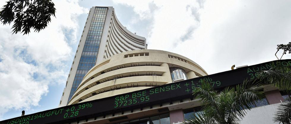 Sensex rises over 200 pts; Nifty tests 11,950